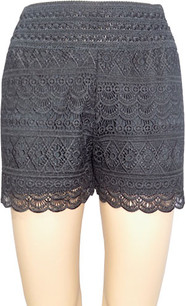 SH03 Black Crochet Shorts