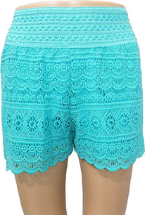 SH03 Mint Crochet Shorts