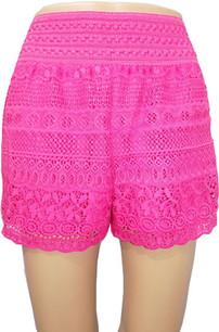 SH02 Fuschia Crochet Shorts