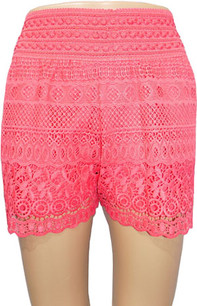 SH02 Coral Crochet Shorts