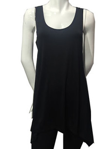 1389 Black Tank Piko Top