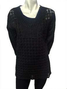 1455 Black Lace Top