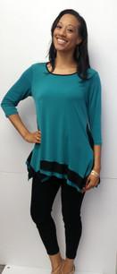 716 Turquoise/Black Tunic