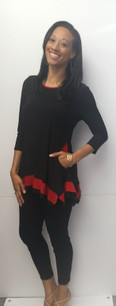 716 Black/Red Tunic