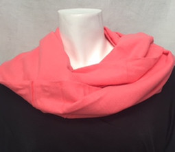 Coral Cashmere-Feel Scarf