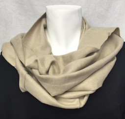 Beige Cashmere-Feel Scarf