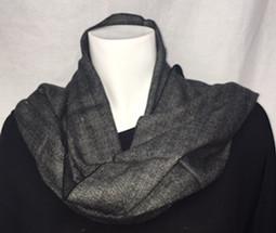Black/Grey Cashmere Feel Scarf