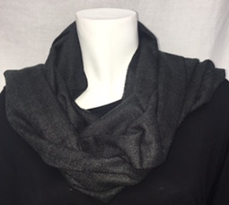 Black Cashmere Feel Scarf