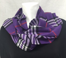 Purple Plaid Cashmere-Feel Scarf