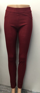 J04 Burgundy Jeggings