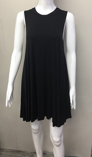 7645 Black Tank Pocket Dress