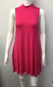2905 Fuchsia Pocket Tank Dress