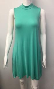 2905 Aqua Pocket Tank Dress