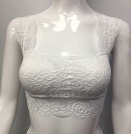B666 White Lace Bra