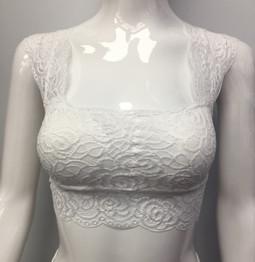 B666 White Lace Bra