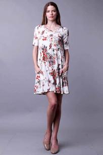 34744 White/Rose Dress
