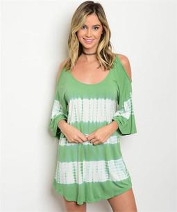 9521 Green Tie Dye Blouse