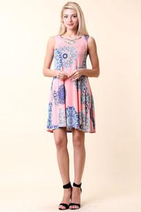 34744 Light Coral Dress