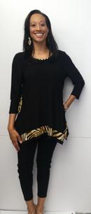 716 Black/Leopard Tunic