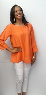 687 Bright Orange Seam Top