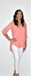 3376 Peach Lined Feel Top