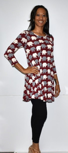 3060 Multicolored Elephant Tunic