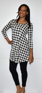 3060 Black Houndstooth Tunic