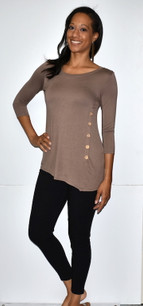 4053 Mocha Side Button Top