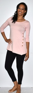 4053 Pink Side Button Top