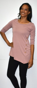 4053 Mauve Side Button Top
