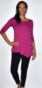 4053 Magenta Side Button Top