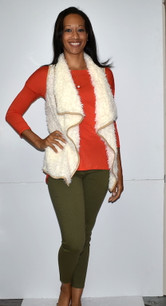2069 Creme Fur Vest