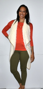 2069A Off White Fur Vest