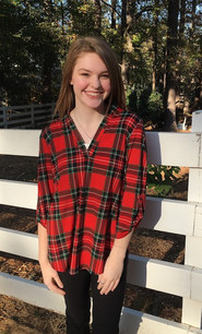 3288 Red Plaid Top