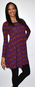 3264 Purple Tiger Inspired Dress