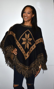 1457 Black/Tan Poncho