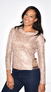 Bronze/Copper Sparkle Sweater