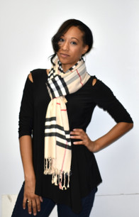 Beige Cashmere Feel Pashmina Scarf