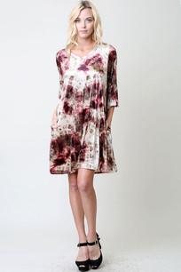 White Multicolored Pocket Dress
