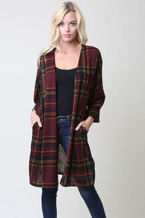 Maroon/Forest Green Plaid Jacket