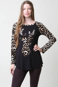 Antler Top w/ Animal Sleeve