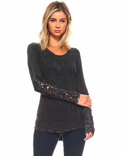 60004 Black Crystal Washed Top