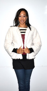 10421 White Fur Like Jacket