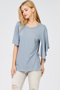 142 Blue Open Sleeved Top