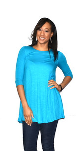 4032 Blue Pocket Dress