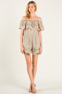 11057 Light Sage Embroidered Romper