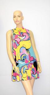 D-3061 Yellow ITY Dress