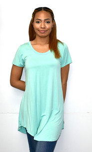 1602 Mint Piko Top