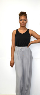 902 Silver Grey Pleated Pants