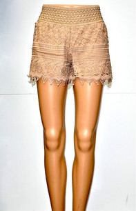 SH-02 Taupe Lace Short